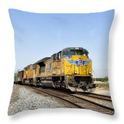 Up 8587 Southbound From Traver Throw Pillow