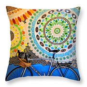 Up Against A Wall Throw Pillow