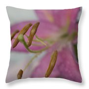 Up Close With Lily Throw Pillow