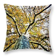 Up Into The Tree Throw Pillow