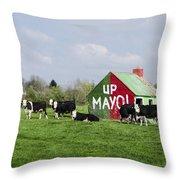 Up Mayo Throw Pillow