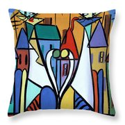 Up On The Roof Throw Pillow by Anthony Falbo