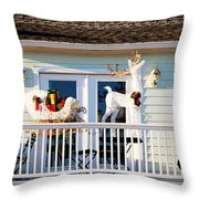 Up On The Rooftop  Throw Pillow