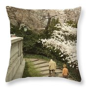 Up The Cherry Steps Throw Pillow