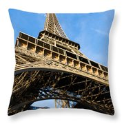 Up The Eiffel Tower 1 Throw Pillow