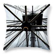 Up The Rigging Throw Pillow