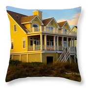 Up The Stairs At Isle Of Palms Throw Pillow