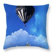 Up Through The Atmosphere Throw Pillow