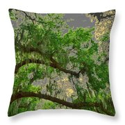 Up Through The Haunted Tree Throw Pillow