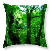 Up Through The Trees Throw Pillow