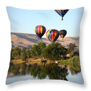 Up Up And Away Throw Pillow by Carol Groenen