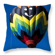 Up Up And Away In My Beautiful Balloon Throw Pillow by Edward Fielding