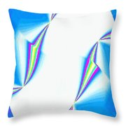 Upbeat Abstract Oval Throw Pillow