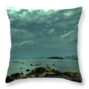Upcoming Rain Throw Pillow