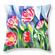 Upcoming Wind Poppy Field Throw Pillow