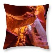 Upper Antelope Canyon Throw Pillow