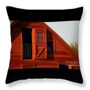 Upper Barn Door-3704 Throw Pillow