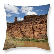 Upper Colorado River View Throw Pillow