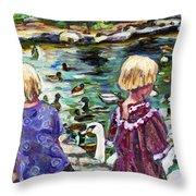 Upper Duck Pond Throw Pillow
