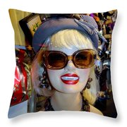 Upper East Side Lady Throw Pillow