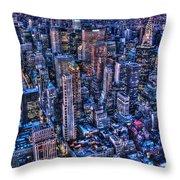 Upper East Side Skyline Throw Pillow