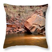 Upper Emerald Pools At Zion National Park Throw Pillow