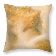 Upper Fall Of The Reichenbach - Rainbow Throw Pillow