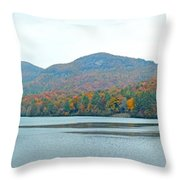 Upper Lake Toxaway In The Fall 2 Throw Pillow