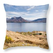 Upper Loch Torridon Throw Pillow
