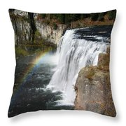 Upper Mesa Falls Idaho Throw Pillow
