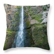 Upper Multnomah Falls Throw Pillow
