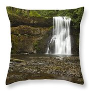 Upper North Silver Falls 1 Throw Pillow