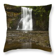 Upper North Silver Falls 2 Throw Pillow