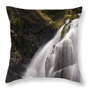 Upper Portion Of Lower Falls Throw Pillow