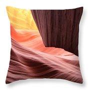 Upper Sun Glow Throw Pillow