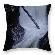 Upper Twin Falls Close Throw Pillow