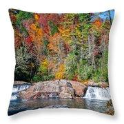 Upper Twin Falls Throw Pillow