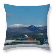 Upper Valley Farm Throw Pillow