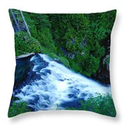 Upper View Of Narada Falls Throw Pillow