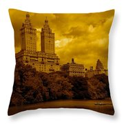 Upper West Side And Central Park Throw Pillow