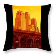 Upper West Side And Hudson River Manhattan Throw Pillow
