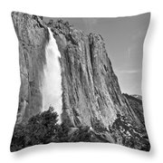Upper Yosemite Fall With Half Dome Throw Pillow