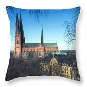 Uppsala Cathedral Throw Pillow
