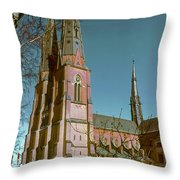 Uppsala Cathedral Spires  Throw Pillow