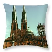 Uppsala Cathedral Steeples Throw Pillow
