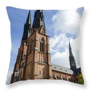 Uppsala Cathedral - Sweden Throw Pillow
