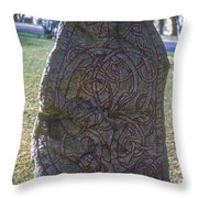 Uppsala Runestone Throw Pillow