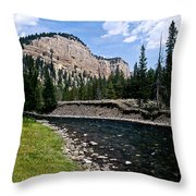 Upriver In Washake Wilderness Throw Pillow