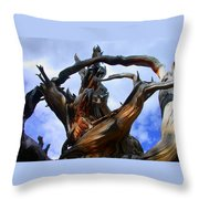 Uprooted Beauty Throw Pillow