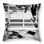 Upside Down Conversation Throw Pillow